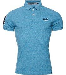 superdry men's classic pique polo shirt