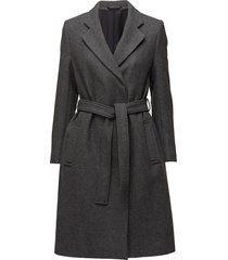 eden belted coat wollen jas lange jas grijs filippa k