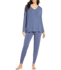 women's nordstrom moonlight pajamas, size x-large - blue