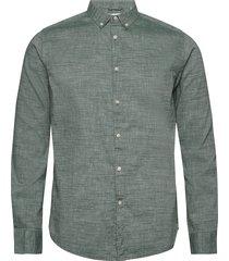 larch ls linen shirt - gots/vegan overhemd business groen knowledge cotton apparel
