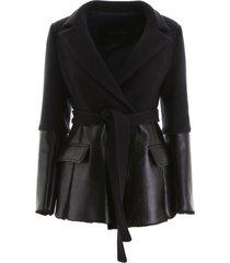 blancha wool and shearling jacket