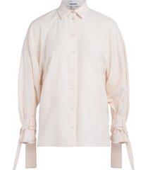 kenzo trench coat ecru shirt