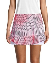 printed ruffle tennis skirt