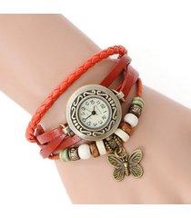 reloj pulsera vintage mariposa - rojo