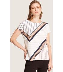 camiseta lineas cruzadas blanco xxl