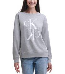 calvin klein jeans logo print long-sleeve top