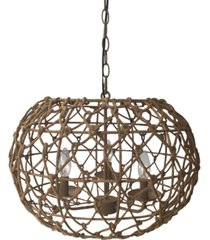 kenroy home casual 3 light pendant