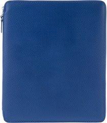 comme des garçons wallet 'luxury' ipad case - blue