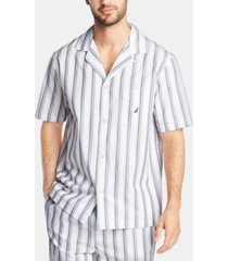 nautica men's cotton striped pajama shirt