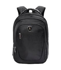 mochila executiva cabo de aço notebook resistente preta 01 preto