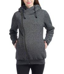 kimi + kai kenzie zip maternity hoodie