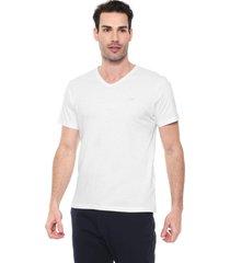 camiseta colombo gola v branca