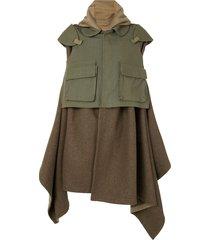 comme des garçons pre-owned military blanket coat - green
