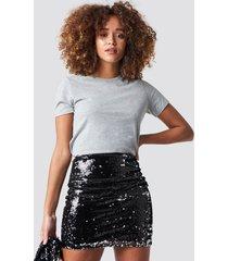 trendyol double sided sequin skirt - black