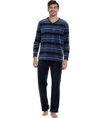 heren pyjama velours pastunette 23202-603-2-s