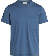 7 for all mankind men's mitered pocket t-shirt - blue - size xs
