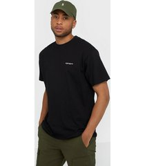 carhartt wip s/s script embroidery t-shirt t-shirts & linnen black/white