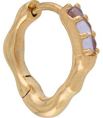 maria black bordo violet huggie earring - gold
