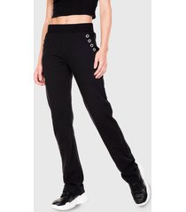 pantalón de buzo everlast supreme negro - calce regular
