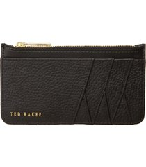 women's ted baker london gerii leather card case - black