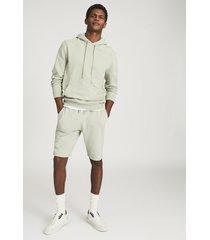 reiss berwick - garment-dye hoodie in soft sage, mens, size xxl