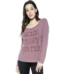 brenna wine is my water l/s pullover - xs sangria