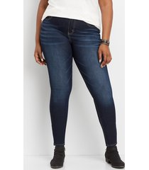 maurices plus size jeans womens everflex™ high rise dark wash stretch skinny jeans blue