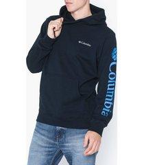 columbia viewmont ii sleeve graphic hoodie tröjor navy