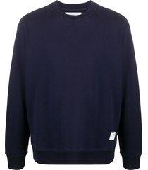 department 5 long-sleeve fitted sweatshirt - blue