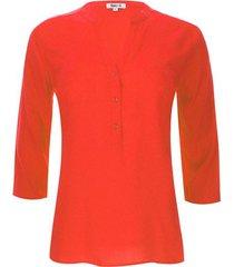 blusa unicolor naranja color naranja, talla xs