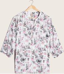 blusa estampado silvestre blanco 14