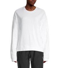 rta women's emilia boxy sweatshirt - white - size xs