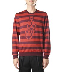 j.w. anderson merino wool sweater with front logo