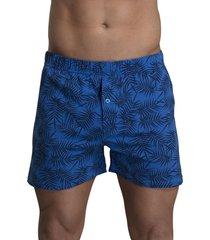 boxer algodón estampado azul baziano