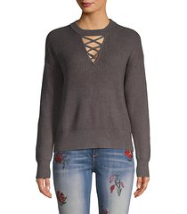 ribbed crisscross sweater