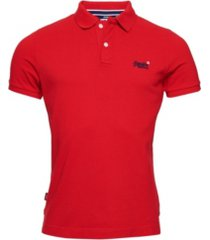 superdry men's classic pique short sleeve polo shirt