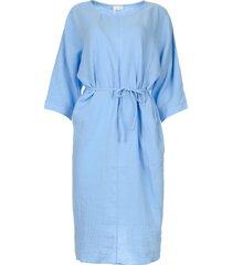 katoenen jurk graziella  blauw