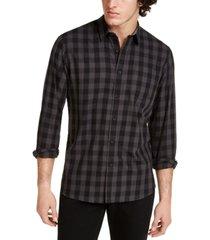 sun + stone men's rama check shirt, created for macy's