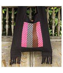 cotton shoulder bag, 'thai beauty' (thailand)