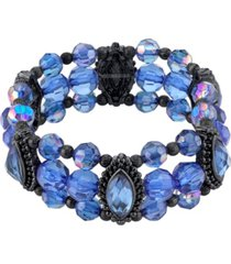 2028 black-tone stretch bracelet