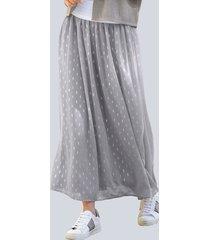kjol alba moda grå::silverfärgad