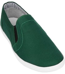 zapato mocasín street line delta-verde botella