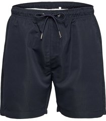 pleated swim shorts badshorts blå lindbergh