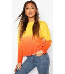 ombre sweater, orange