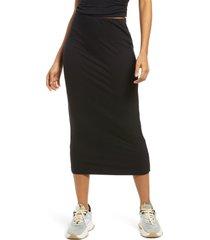 plus size women's afrm torino tube midi skirt, size 2x - black