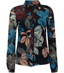 blouse mesh donkerblauw