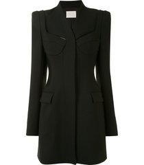 dion lee tailored bra blazer dress - black