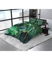pościel bawełniana dwustronna plantas 200x220 cm