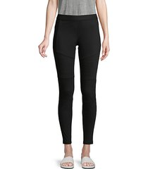 moto cotton-blend leggings
