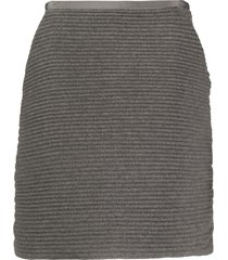 gianfranco ferré pre-owned 2000s ribbed knit skirt - grey